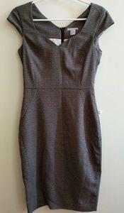 H&M Brown Herringbone Sheath Dress
