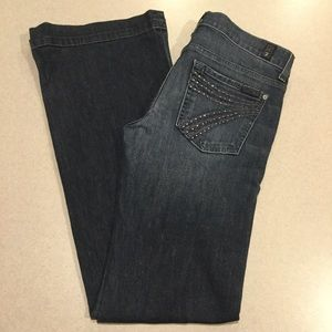 7 For All Mankind Jeans 28X34 Dojo In NYD Crystal!