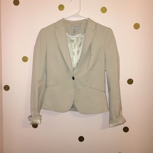 Cream Blazer w/ Decorative Lining