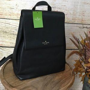 kate spade Wilder Backpack-Black Pebbled Leather
