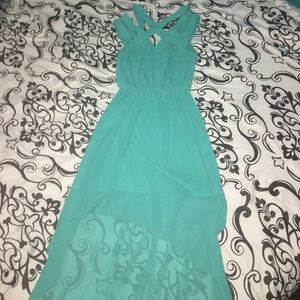 Forever 21 High Low Turquoise Dress