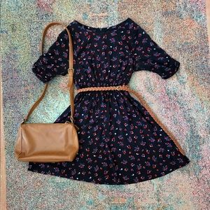 Forever 21 boho urban floral rose Sundress Dress