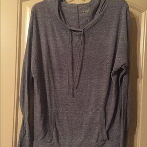Dark gray pull over hoodie
