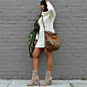 Shoes - Nude Lycra Ankle Boots