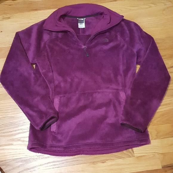 21825f9d7 North Face Purple Fleece Quarter Zip Pullover M