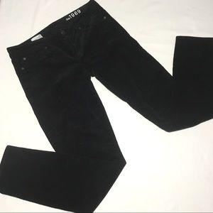 """Gap 1969 Black Corduroy """"Always Skinny"""" Pants"""