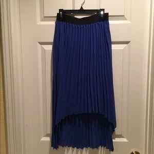 Saks Fifth Hi-Lo Pleated Skirt