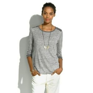 Madewell Tops - Linen Brimfield Tee in Colorblock