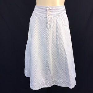 Ralph Lauren Jeans Co Skirt Sz 4 Pinstriped Denim