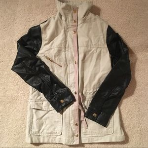 H&M Leather Fleet Jacket