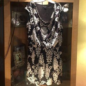 White House black market lined tunic dress