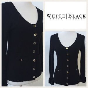 WHBM Black Cardigan
