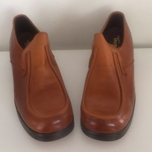 70s Platforms Leather Loafers Womens 10M Mens 8.5