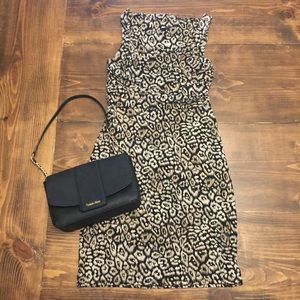 Ann Taylor Leopard Print Sleeveless Dress