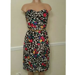 Vtg 1980 Multi Color Dress