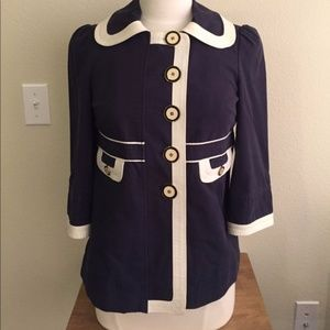 Juicy Couture Navy Nautical Jacket M Buttons