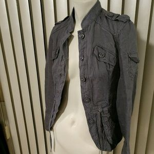 ADORABLE Grey Military Style H&M Jacket