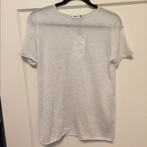 Knit soft gray t-shirt