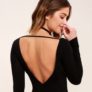 Missguided Dresses - NWT Missguided black dress tie neck long sleeve