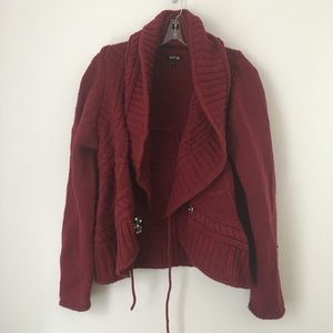 SOFT CHUNKY HEAVY KNIT SWEATER CARDIGAN COAT TOP!!