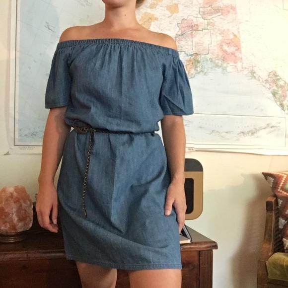 Merona Dresses - CCO☘️ NWT Chambray Off the Shoulder Dress