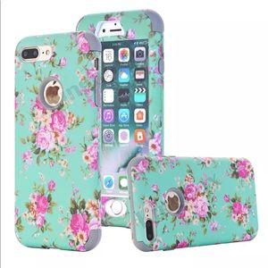 iPhone 7 plus flower shockproof case