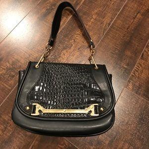 Segolene En Cuir Emboss Handbag
