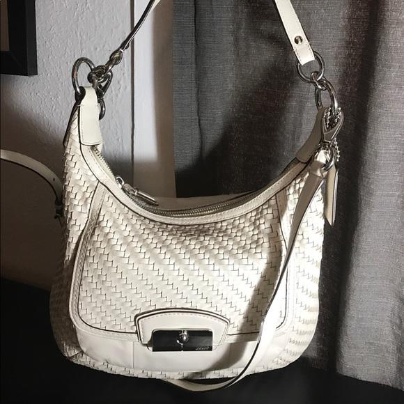 5136a26fa50b Coach Handbags - 🖤BLACK FRIDAY SALE⭐ Woven leather coach Purse