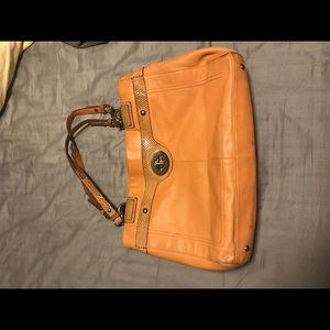 Orange Coach Purse