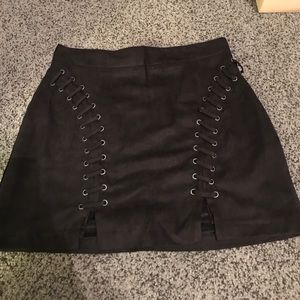 NWT suede skirt