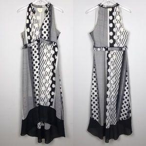 [Anthropologie] Maeve Channeled Dot Dress Striped