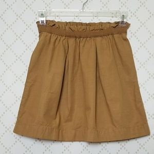 J. CREW Cotton Ruffled Waist Mini Skirt