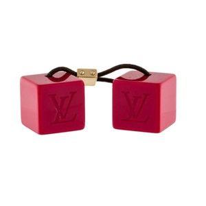 Louis Vuitton Red Hair Cubes