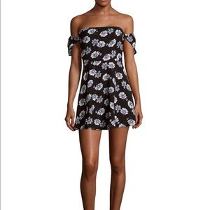 Lucca couture floral off shoulder dress