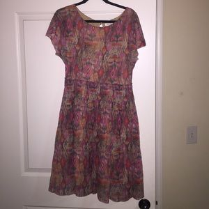 Anthropologie geometric pattern dress