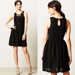 [Anthropologie] Bordeaux Textured Tank Dress Black