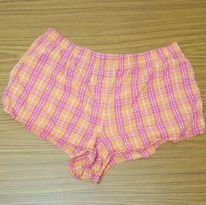 Comfy Plaid Lounge short shorts