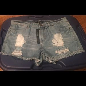 Forever 21 Denim washed Shorts