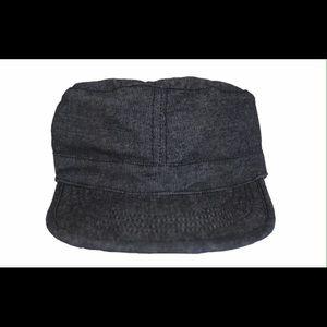 Black denim cadet  hat