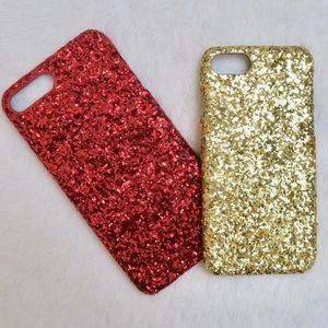 Red or Gold Sparkle Glitter iPhone Hard Case