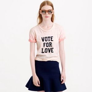Vote for Love Graphic t-shirt made by J Crew