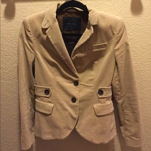 Zara medium tan blazer with elbow patches