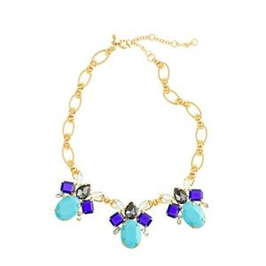 J.Crew Color drop necklace in frosted aqua