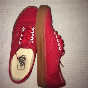 Vans red (gum bottoms)