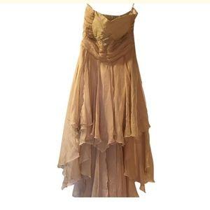 Bridesmaids strapless dress