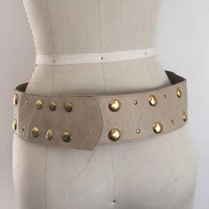 Karen Zambos Cream and Gold Hip Belt