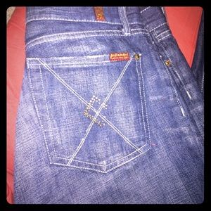 7 for all Mankind Wideleg Jeans. Great condition