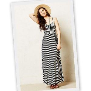 Anthropologie Lilka Meter Stripe Maxi Dress