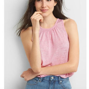 NWT GAP Pink Softspun Lace Back Tank Top Size XL