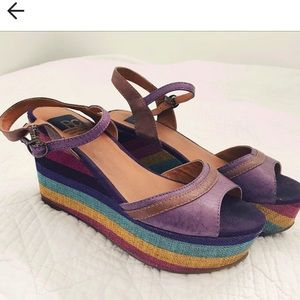 Wedge platform sandals bc footwear Rainbow 🌈